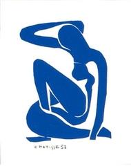 Nu bleu I, 1952 (Blue nude I, 1952)