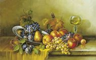 Fruits And A Glass Of Wine