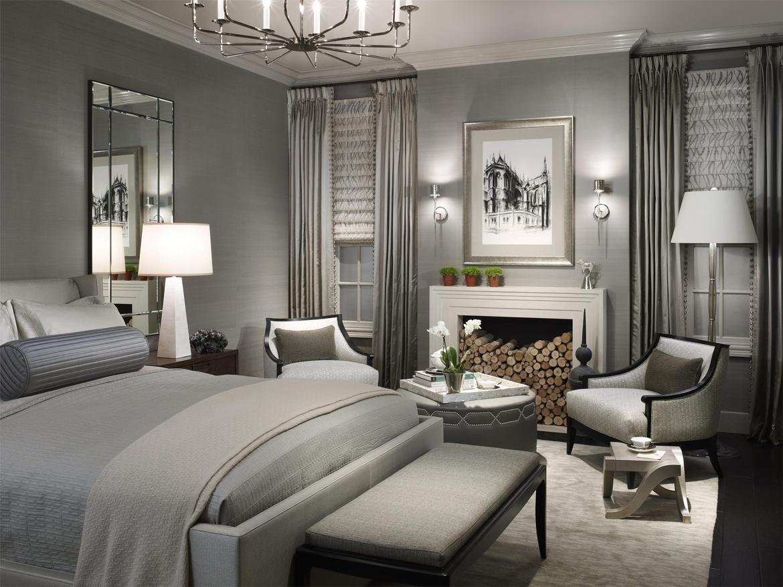 sypialnia ze srebrnymi dekoracjami
