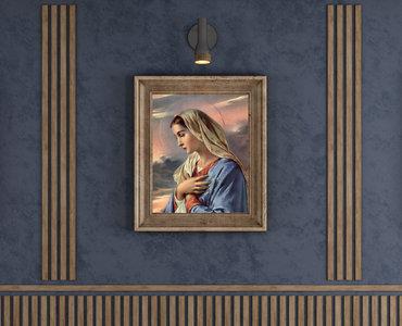 obraz Maryji w drewnianej ramie