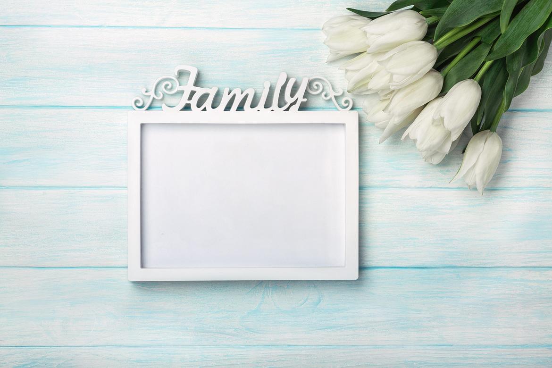 biała ramka family