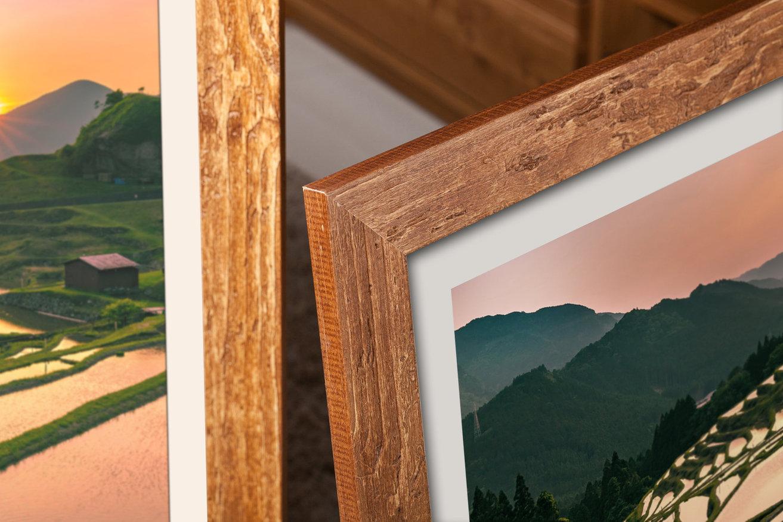 drewniana ramka do stylu etno