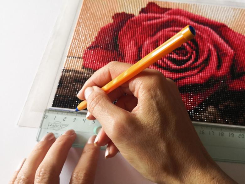 Odrysowywanie obrazu diamond painting