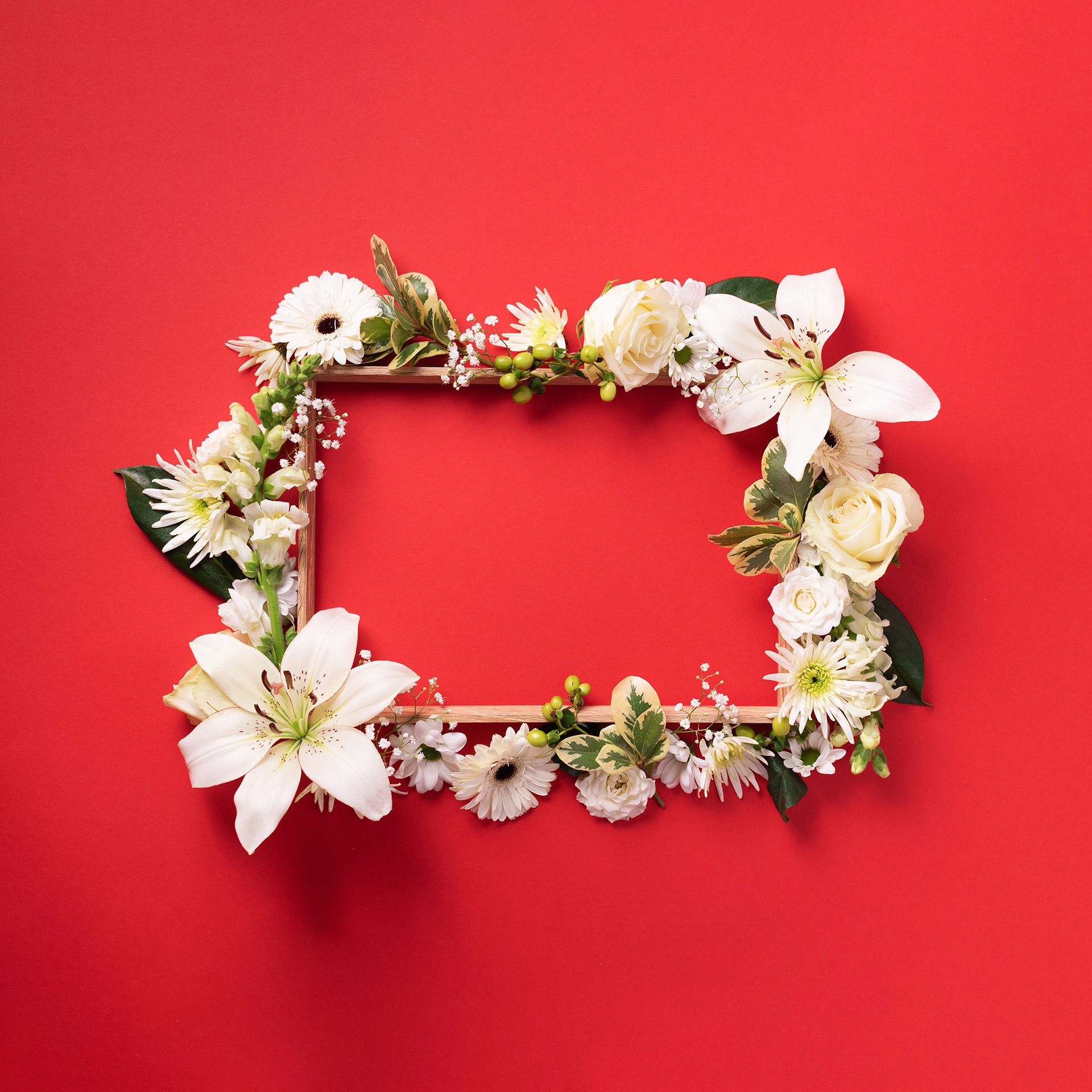 ramka udekorowana kwiatkami