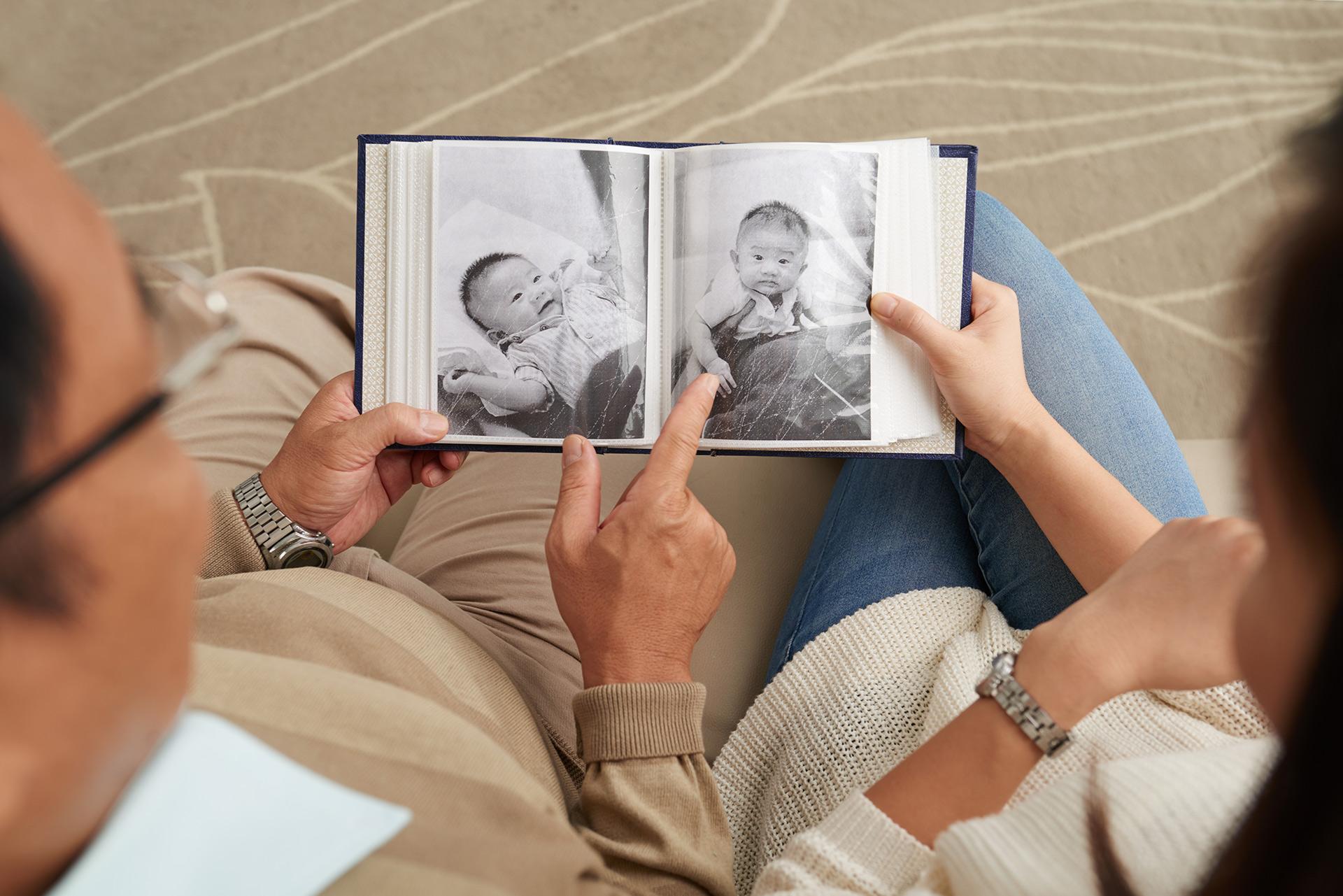 zdjęcia z dzieciństwa dla rodziców