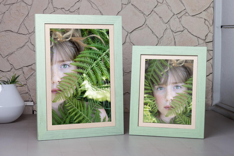 zielona rama do zielonych pomieszczeń