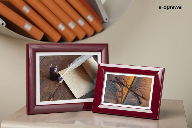 Rama do obrazów i zdjęć bordowa połyskowa Todi AE