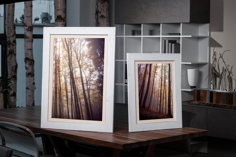 Rama do obrazów i zdjęć biała wytarta Wera AA