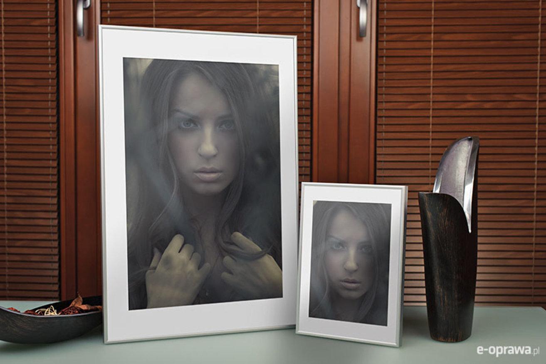 Ramka na zdjęcia i obrazy srebrny matowy aluminium Ida AA