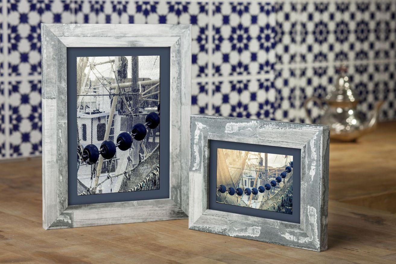 Ramka na zdjęcia i obrazy kremowoszary marmur matowa Bergen AE