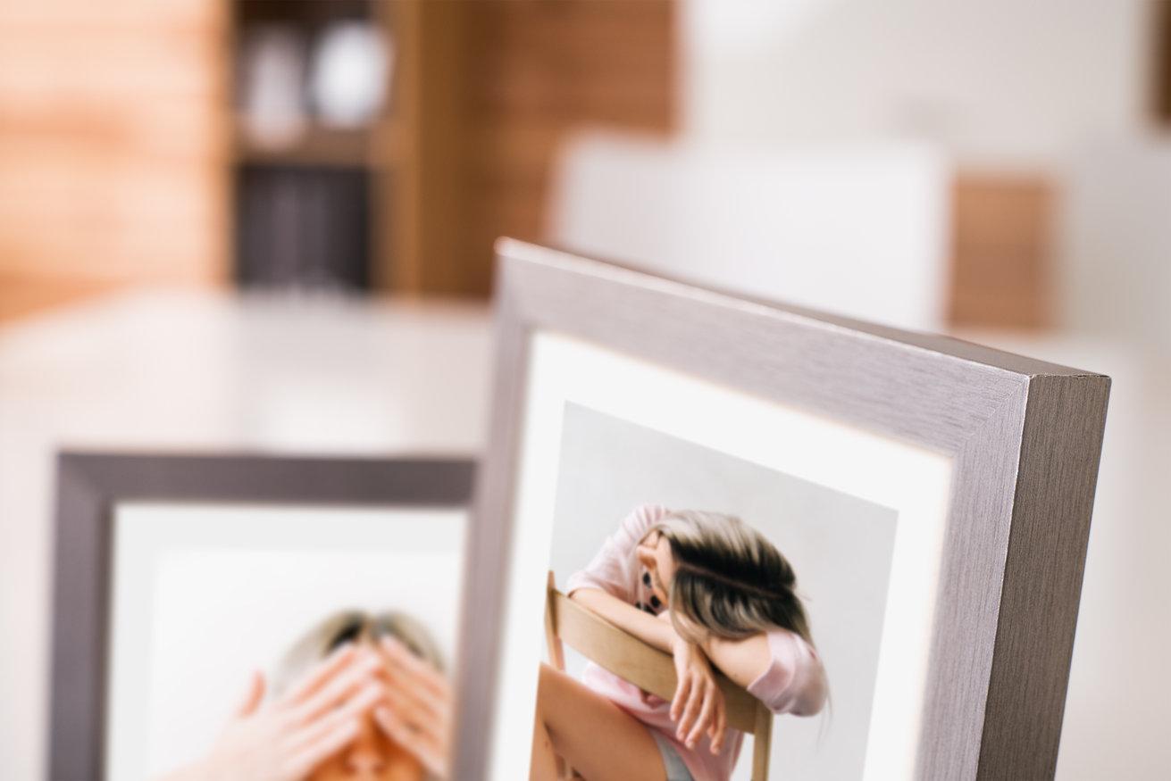 Ramka na zdjęcia i obrazy metalik srebrny platynowy Sanremo AA