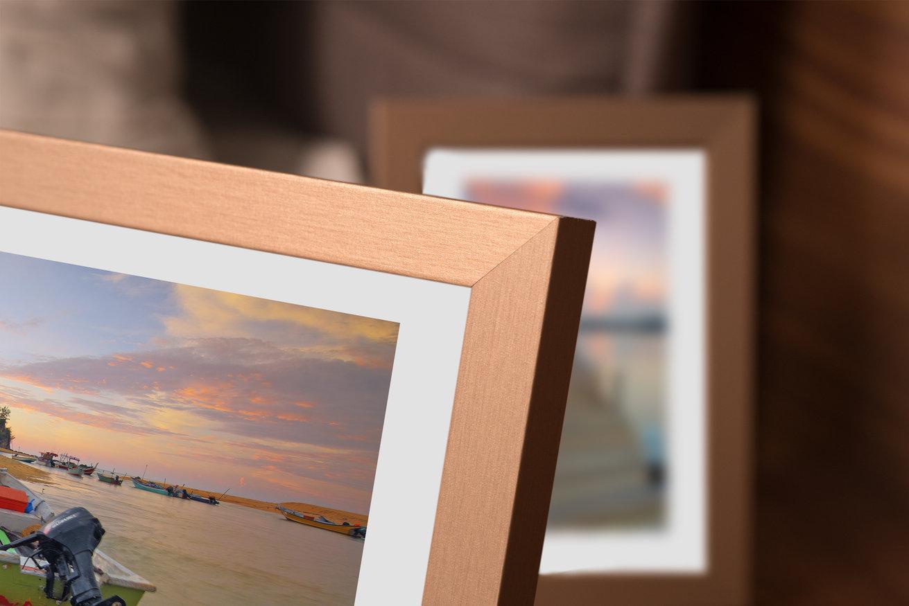 Ramka na zdjęcia i obrazy metalik złoty  Sanremo AC