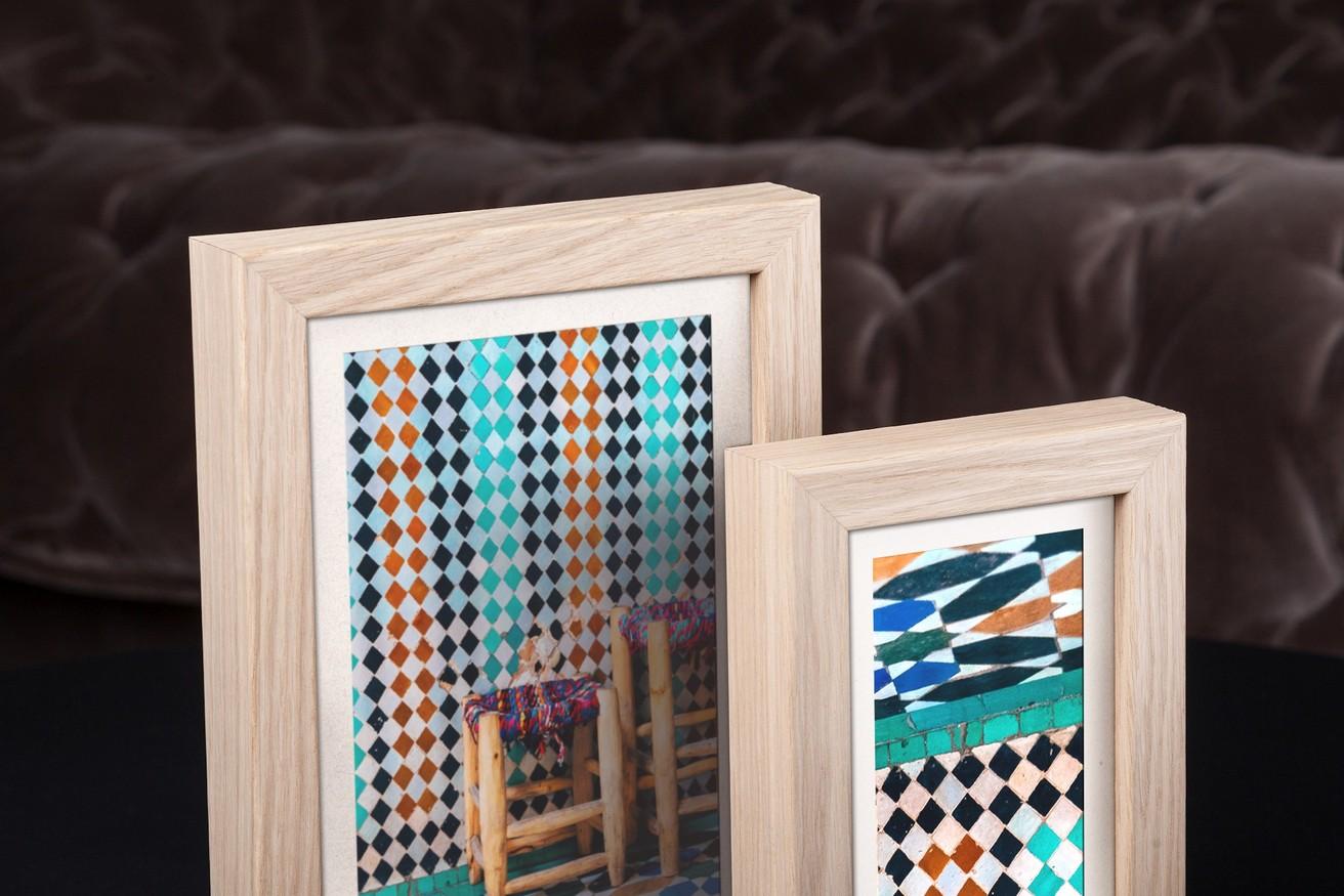 Rama do obrazów i zdjęć w kolorze jasnego drewna Idylla AA