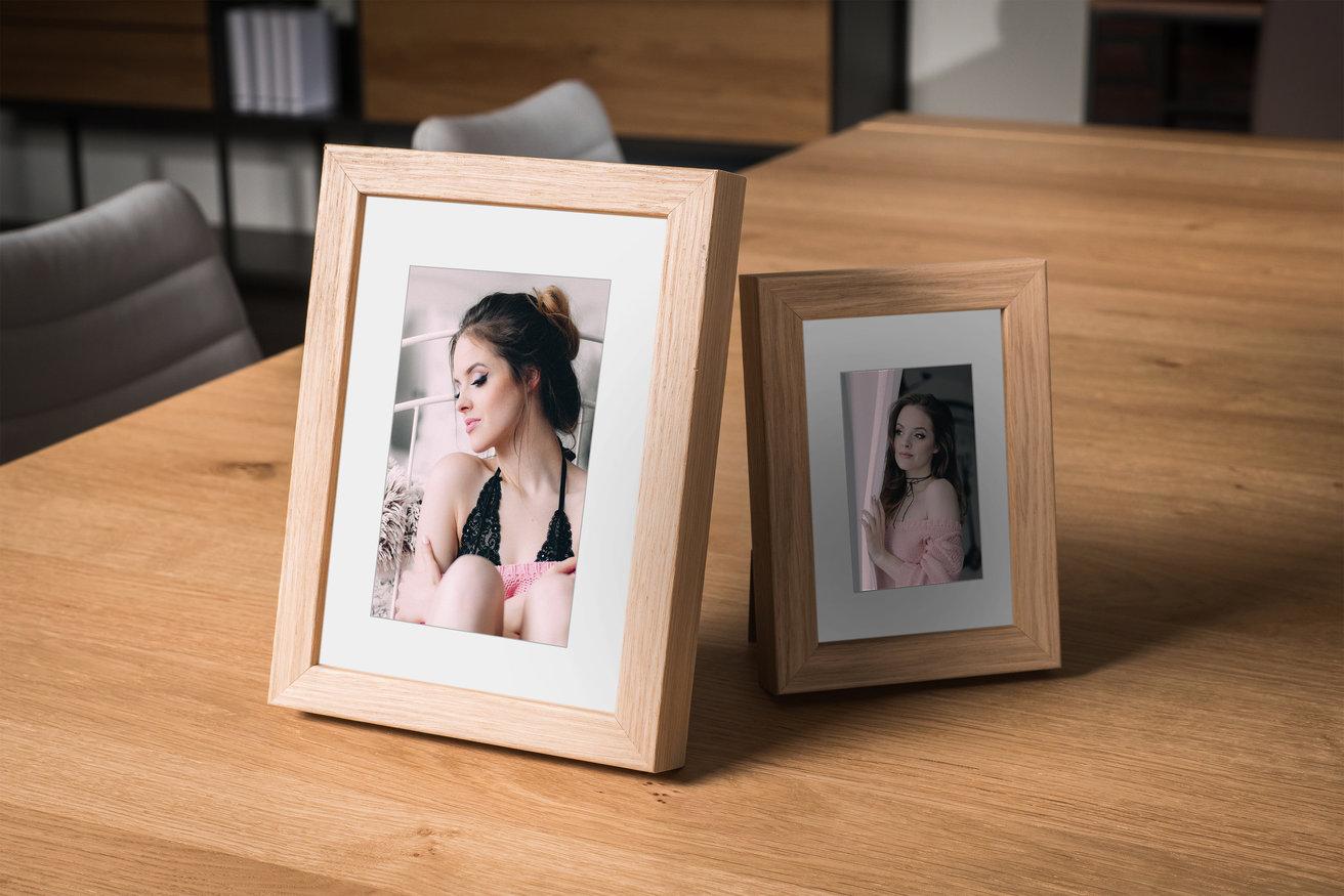 Rama do obrazów i zdjęć w kolorze jasnego drewna Idylla AB