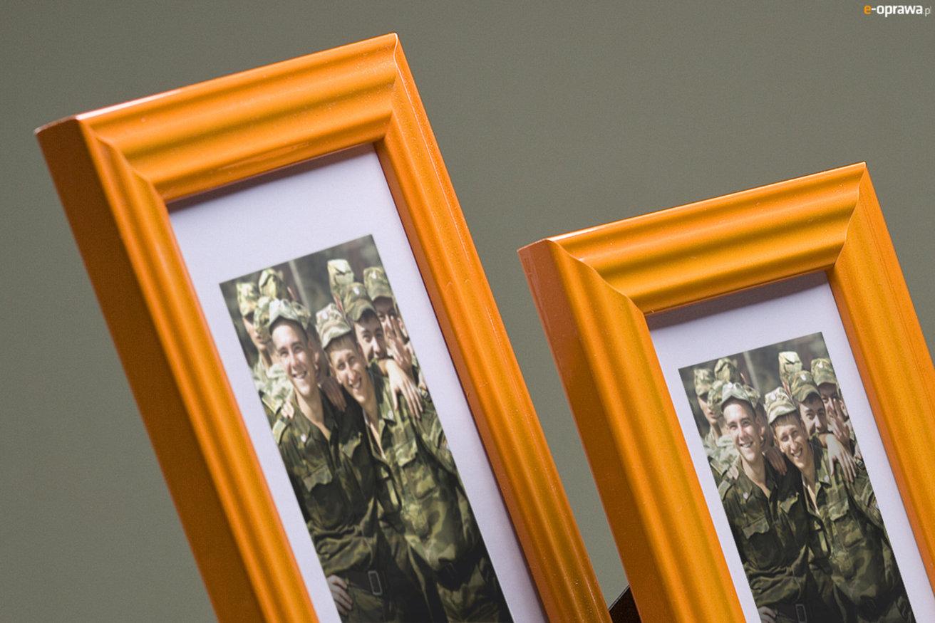 Rama do obrazów i zdjęć pomarańczowa karbowana Fenix MB