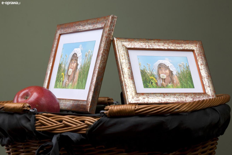 Rama do obrazów i zdjęć w pomarańczowe plamki Colorado PC