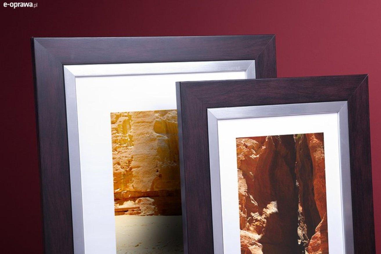 Rama do obrazów i zdjęć śliwkowa z paskiem Riwiera AA