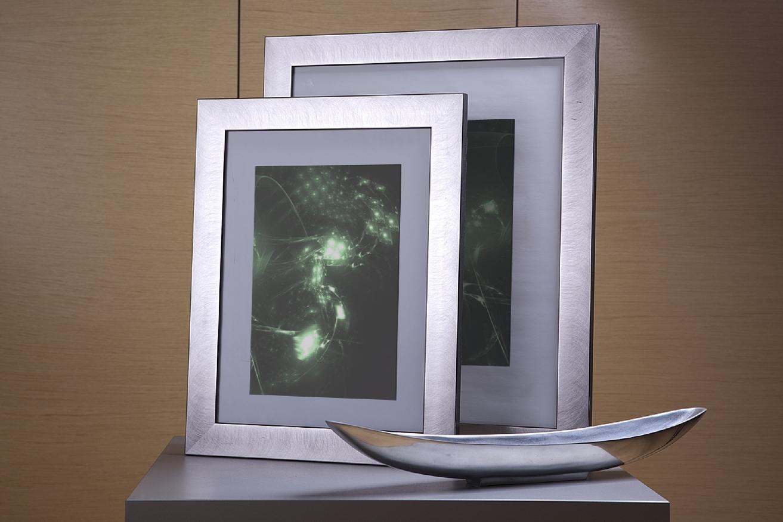 Rama do obrazów i zdjęć srebrna wyszczotkowana Santos AC