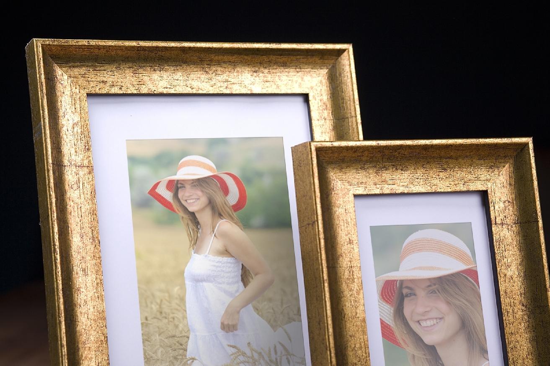 Rama do obrazów i zdjęć złota przecierana Amelia AC