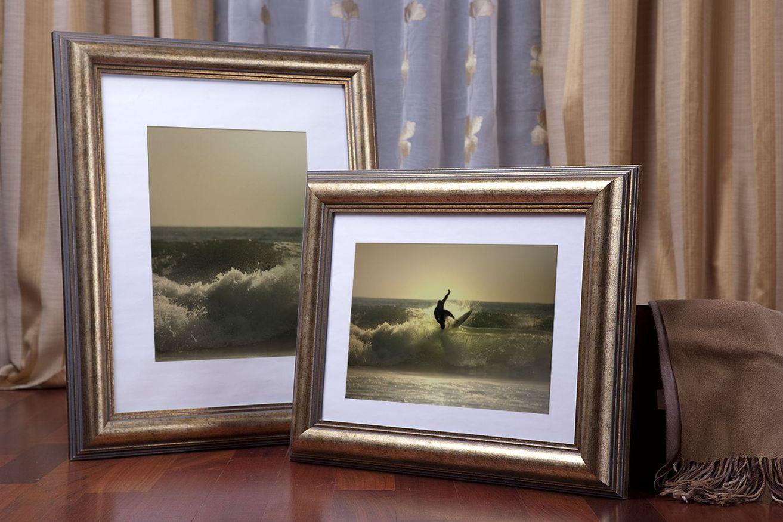 Rama do obrazów i zdjęć złota w siwe paski Caracas GB