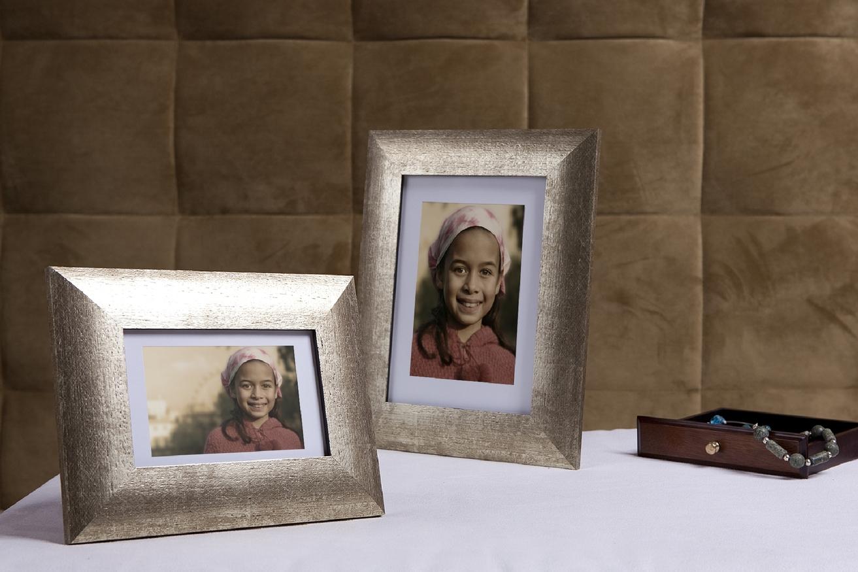 Rama do obrazów i zdjęć srebrna z dodatkiem złota Toledo AA
