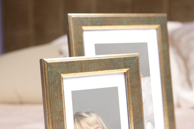 Rama do obrazów i zdjęć złota z zielonkawym przetarciem Salto AC