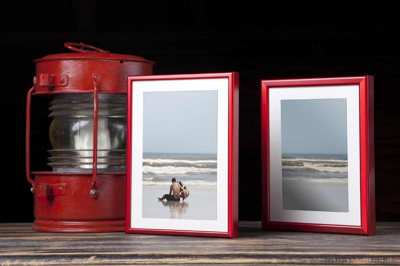 Rama do obrazów i zdjęć karmazynowa aluminiowa ALU 269-210