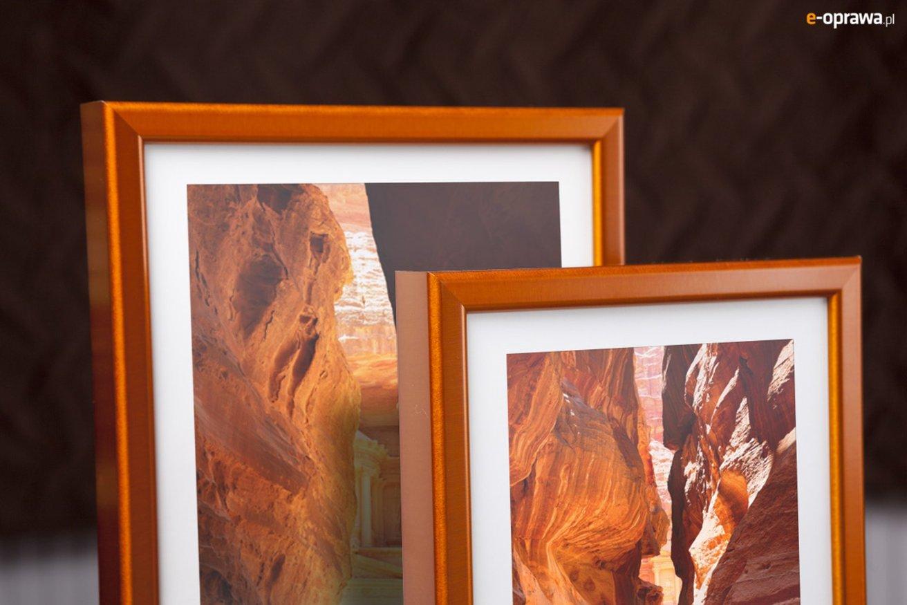 Rama do obrazów i zdjęć aluminiowa oranżowa ALU 270-217