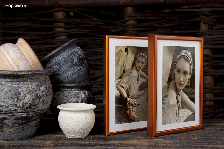 Rama do obrazów i zdjęć jasnopomarańczowa półmatowa ALU 269-217