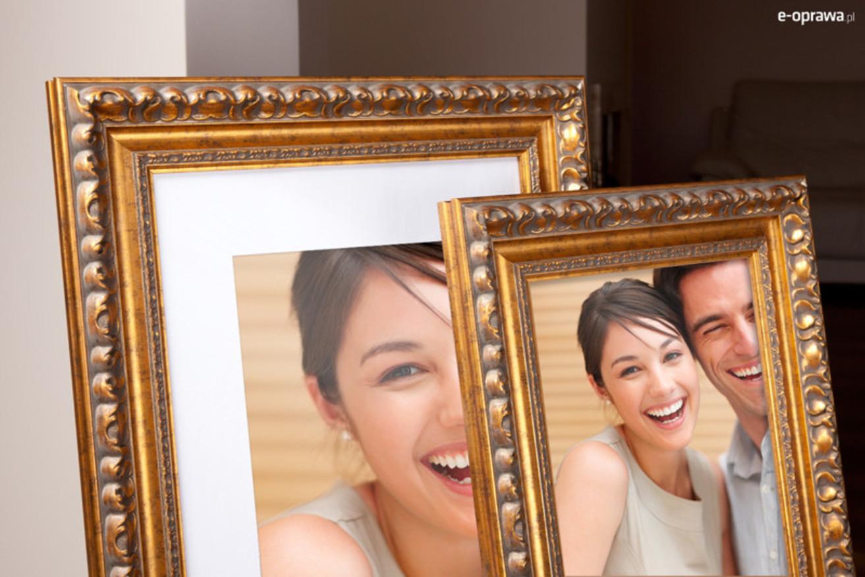 Rama do obrazów i zdjęć złota z popękanym paskiem Sonia AA