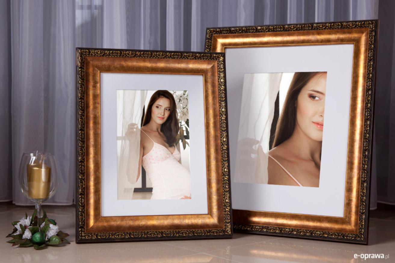 Rama do obrazów i zdjęć złota przypalana Eliza AA