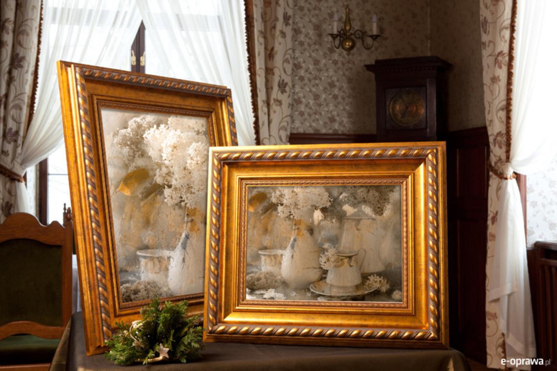 Rama do obrazów i zdjęć złotomiedziana z plecionką Wiktoria AA