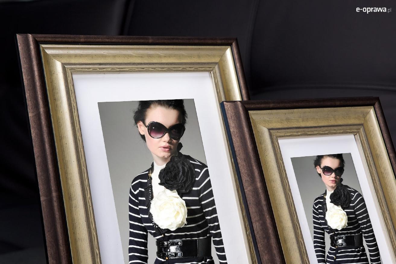 Rama do obrazów i zdjęć pokarbowana perłowo-brązowa Oliwia AA