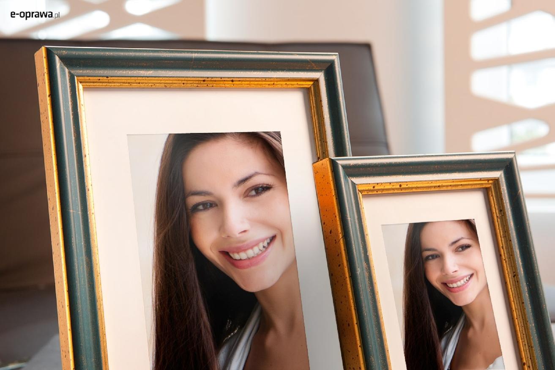 Rama do obrazów i zdjęć niebiesko-złota Roxana AC