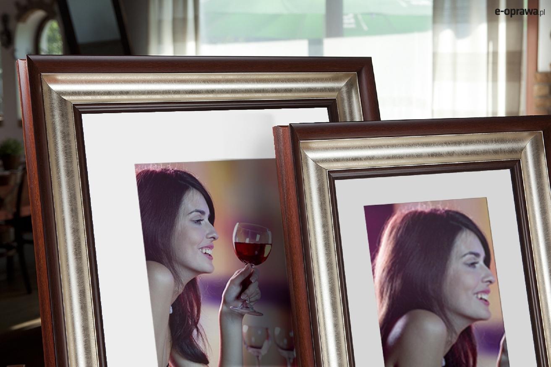 Rama do obrazów i zdjęć kasztanowo-perłowa Monica AA