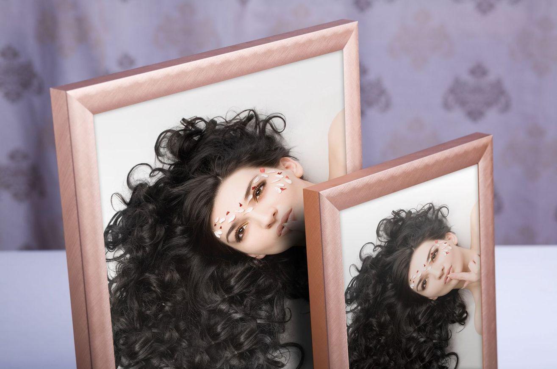 Rama do obrazów i zdjęć bursztynowa szczotkowana ALU 5-155