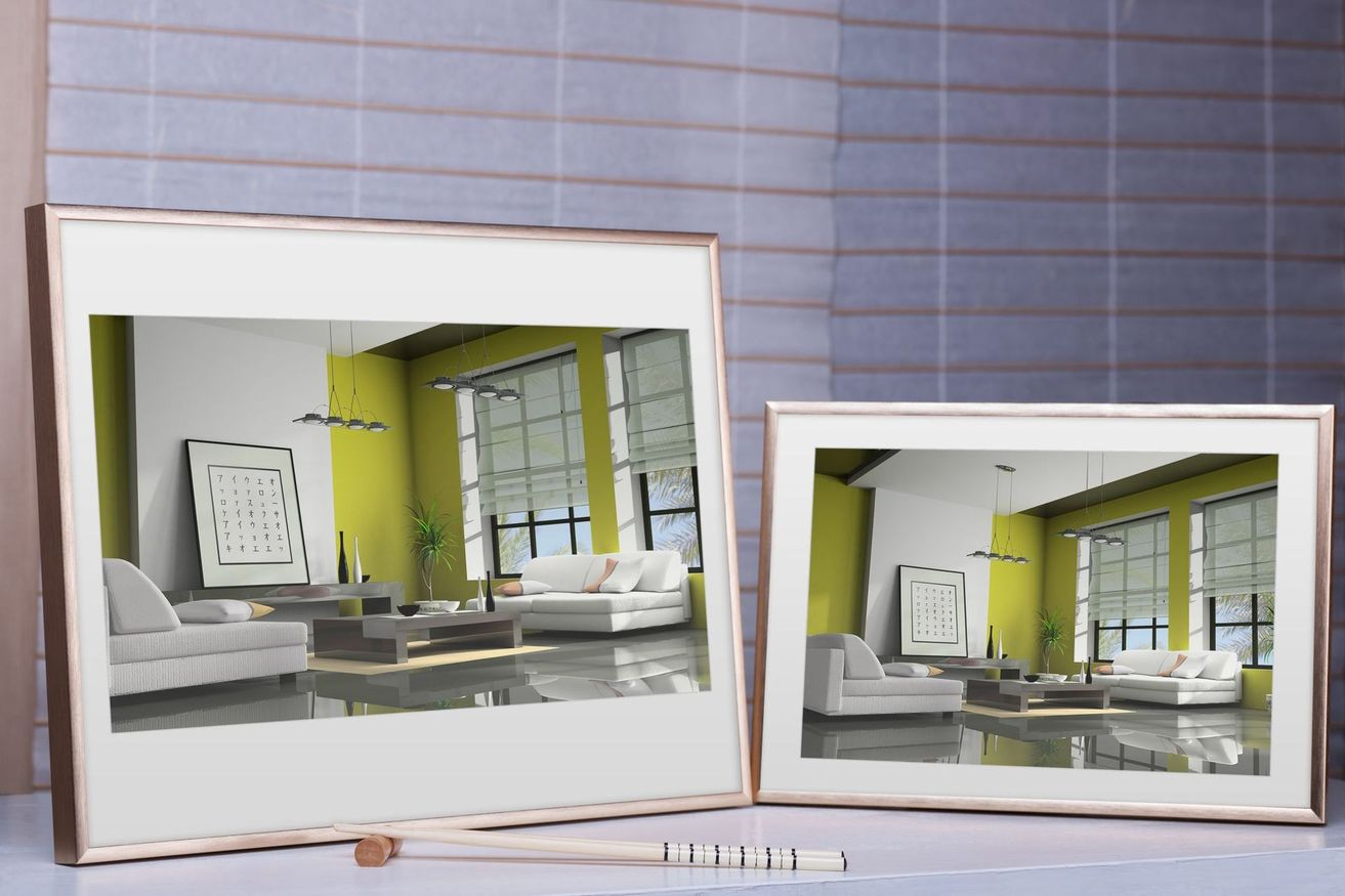 Rama do obrazów i zdjęć złotobursztynowa aluminiowa ALU 11-317