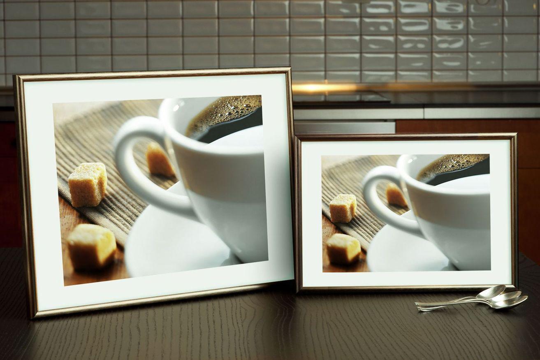 Rama do obrazów i zdjęć ciemnooliwkowa aluminiowa ALU 7-318