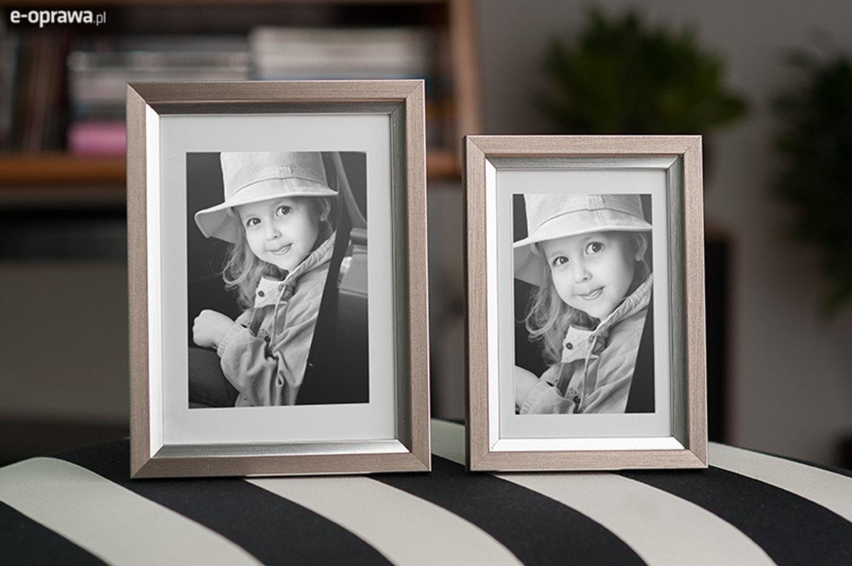 Rama do obrazów i zdjęć z głębokim srebrnym paskiem Dali AF