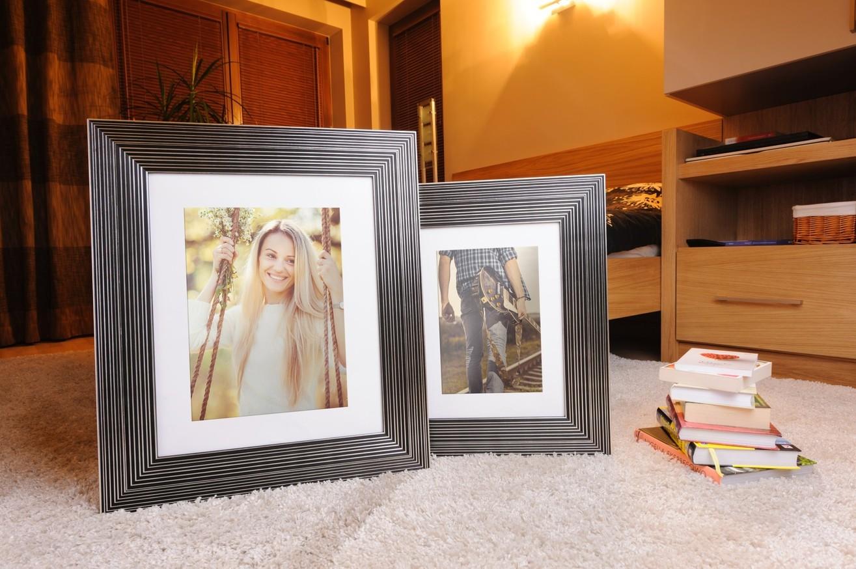 Rama do obrazów i zdjęć czarna wypaskowana Hawana AZ