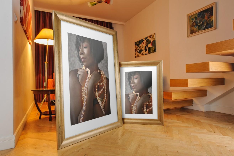 Rama do obrazów i zdjęć szampańska z wgłębieniem Luna AA