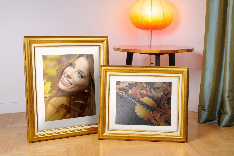 Rama do obrazów i zdjęć złota rozjaśniona Aida AA