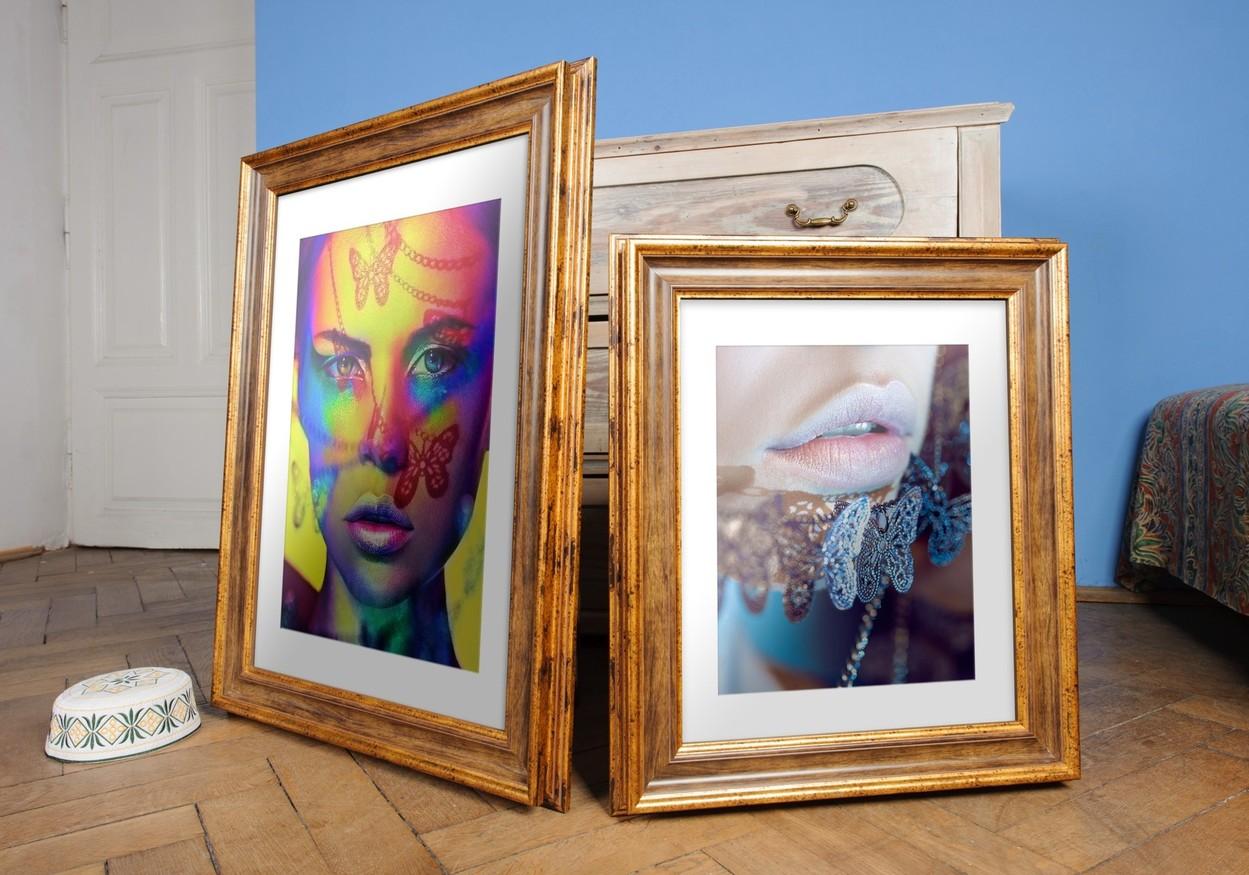 Rama do obrazów i zdjęć złota z pasem umbra Eos AD