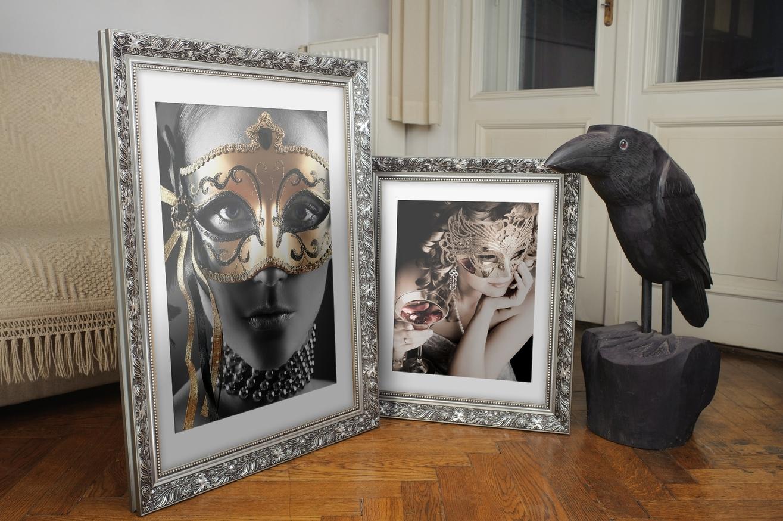Rama do obrazów i zdjęć srebrna w makówkę Akron AA