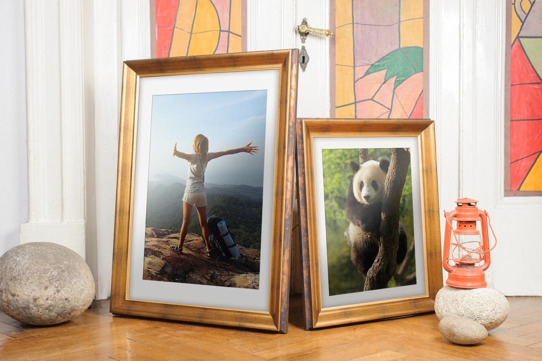Rama do obrazów i zdjęć złota wyżłobiona powycierana Denver AC