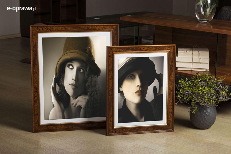 Rama do obrazów i zdjęć orzechowo-złota retro Borgo AA