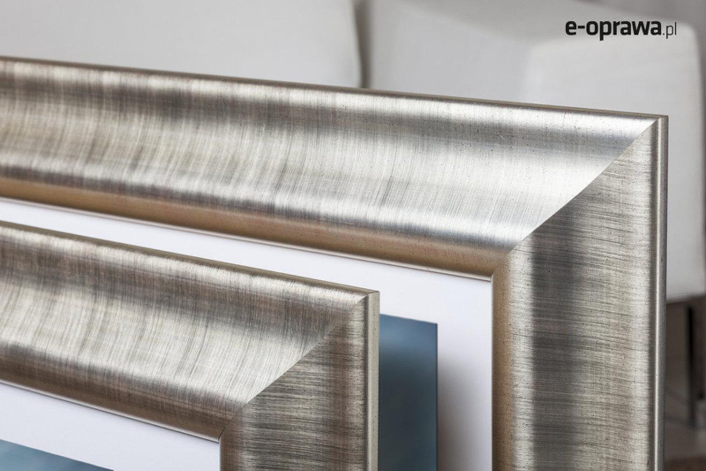 Rama do obrazów i zdjęć srebrna głęboko wyżłobiona Milano AA