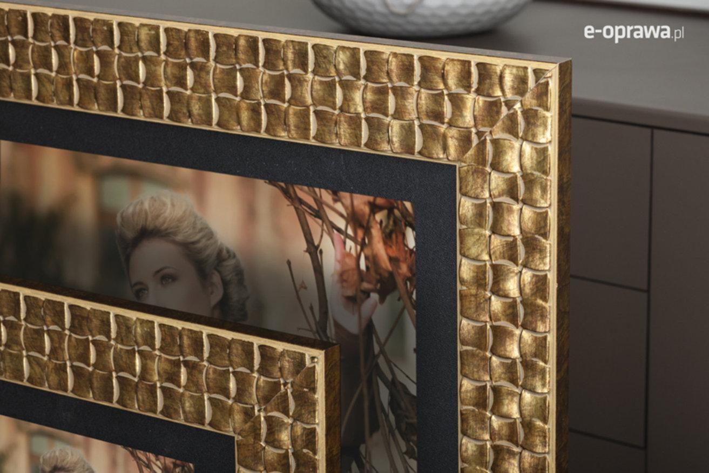 Rama do obrazów i zdjęć złota w krateczkę Virginia AC