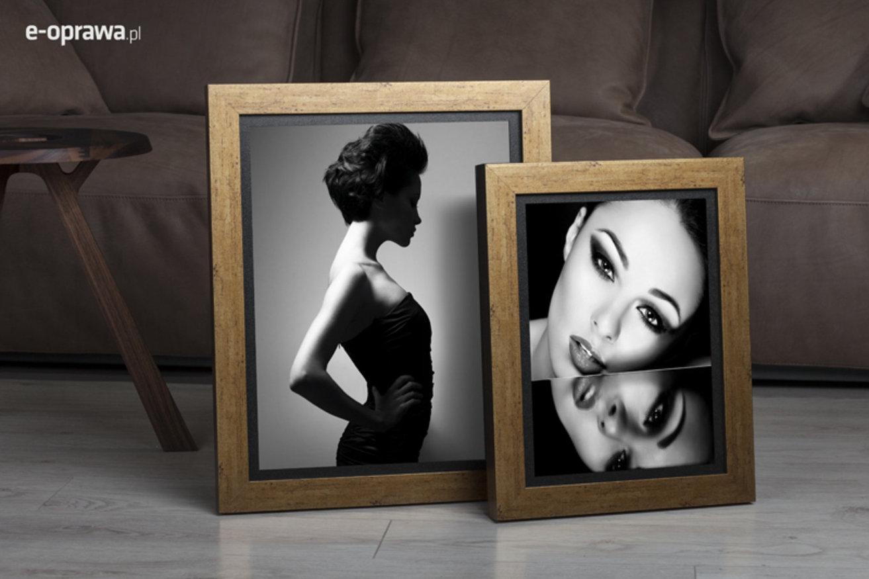 Rama do obrazów i zdjęć złota postarzana Togo AB