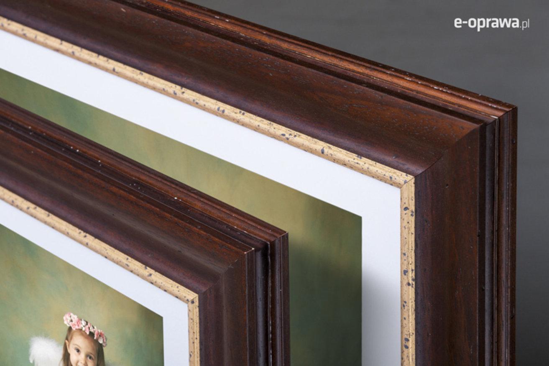 Rama do obrazów i zdjęć kasztanowo-orzechowa  Nelson AA